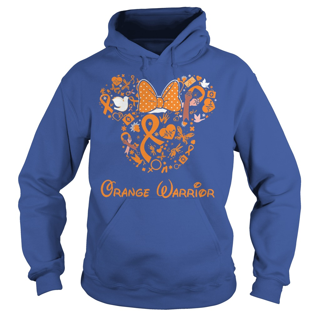 Mickey Mouse Orange Warrior Hoodie