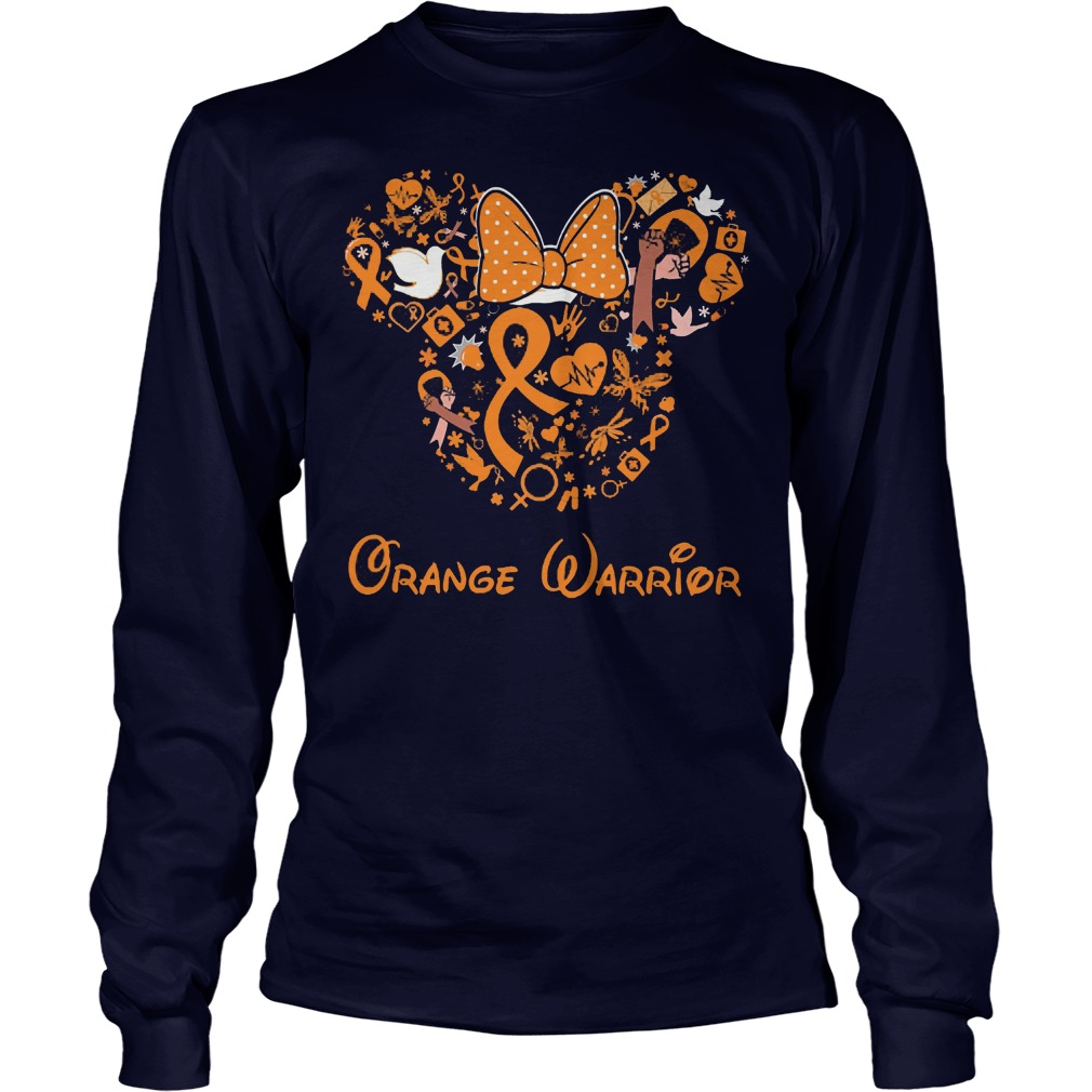 Mickey Mouse Orange Warrior Longsleeve