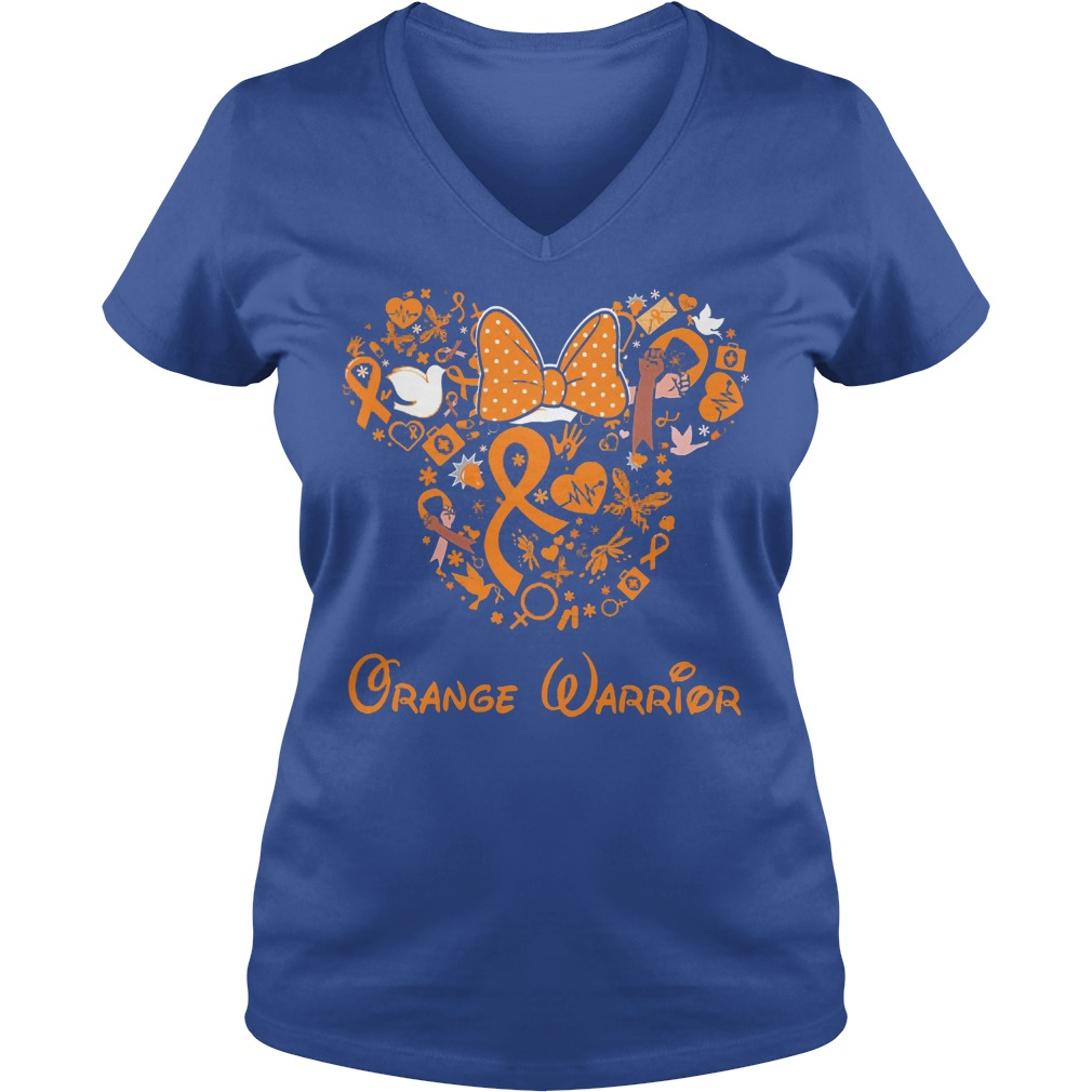 Mickey Mouse Orange Warrior V Neck
