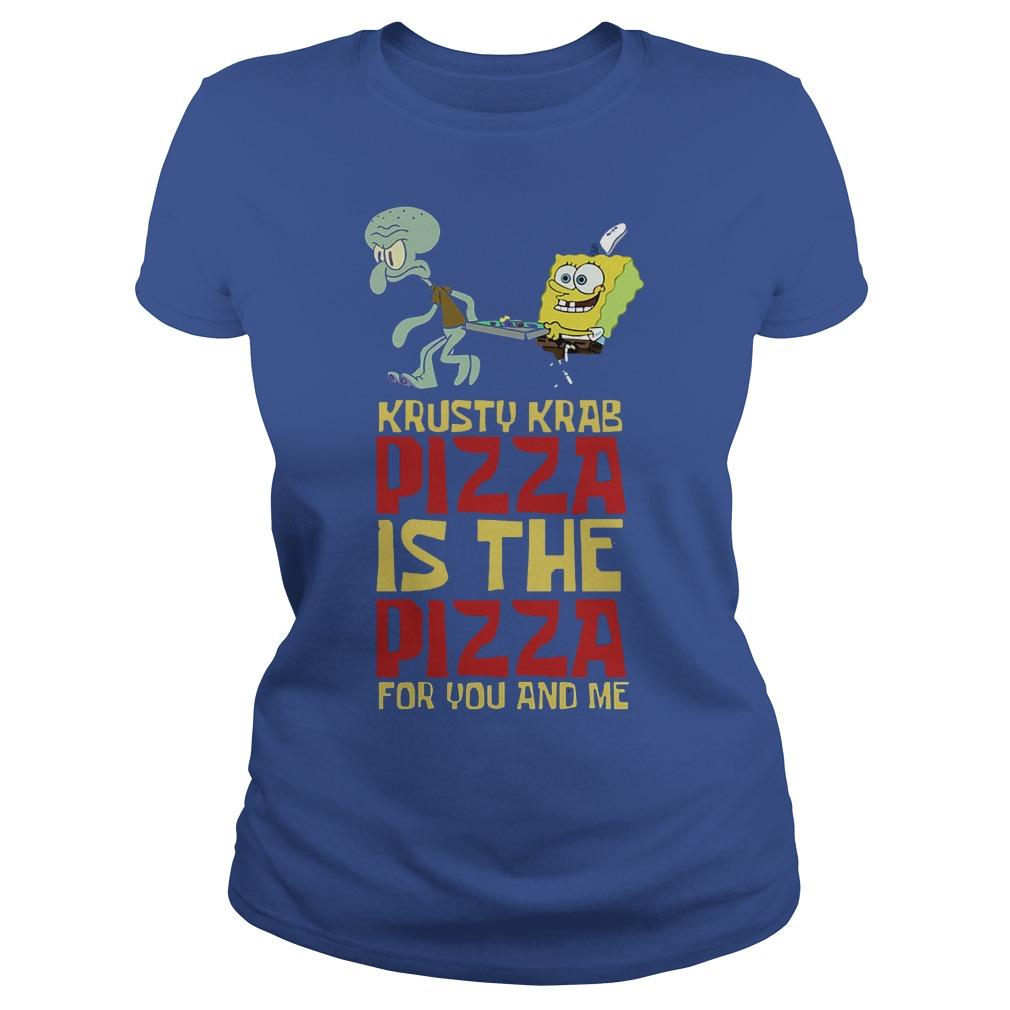 Spongebob Squarepant Krusty Krab Pizza Shirt Ladies