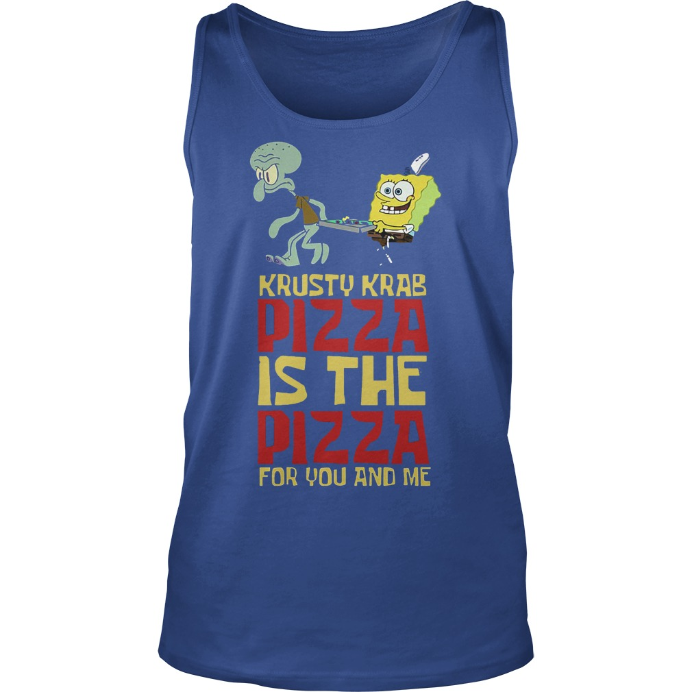 Spongebob Squarepant Krusty Krab Pizza Shirt Tank Top