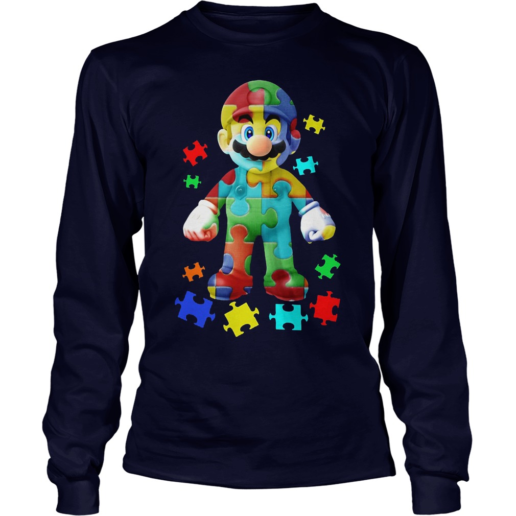Super Mario Autism Awareness Shirt Longsleeve
