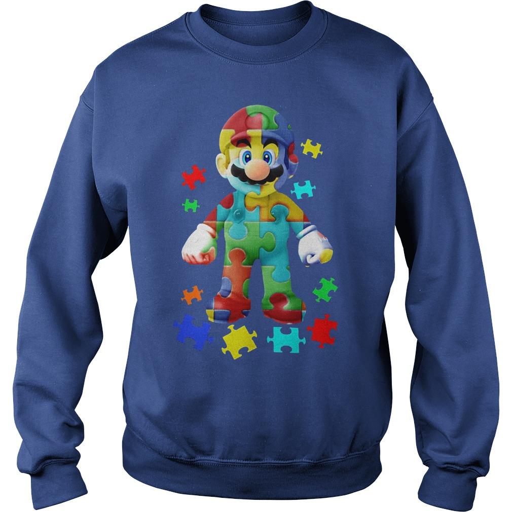 Super Mario Autism Awareness Shirt Sweater