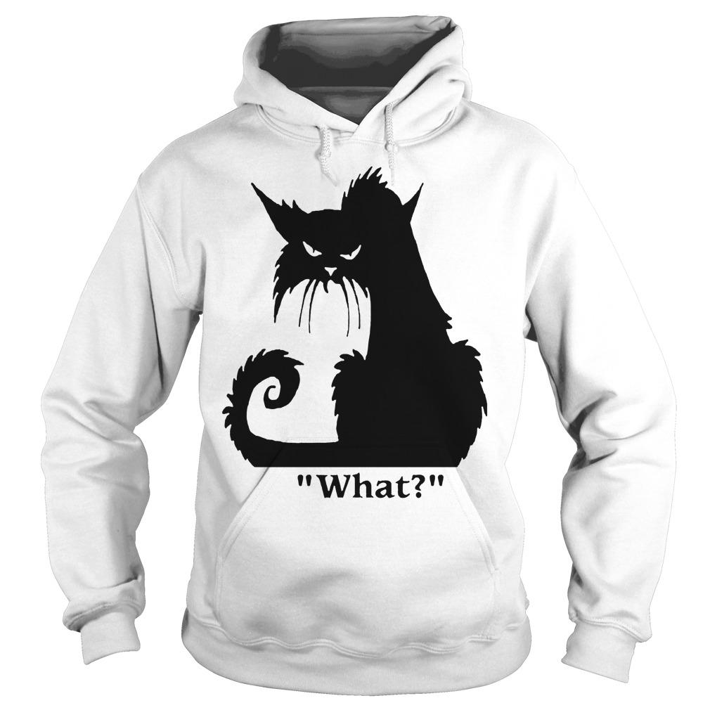 Black Cat What Hoodie