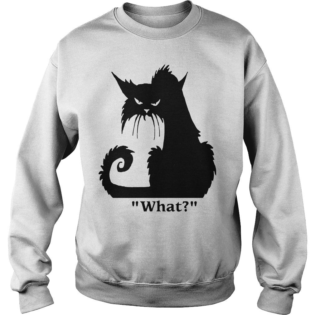 Black Cat What Sweater