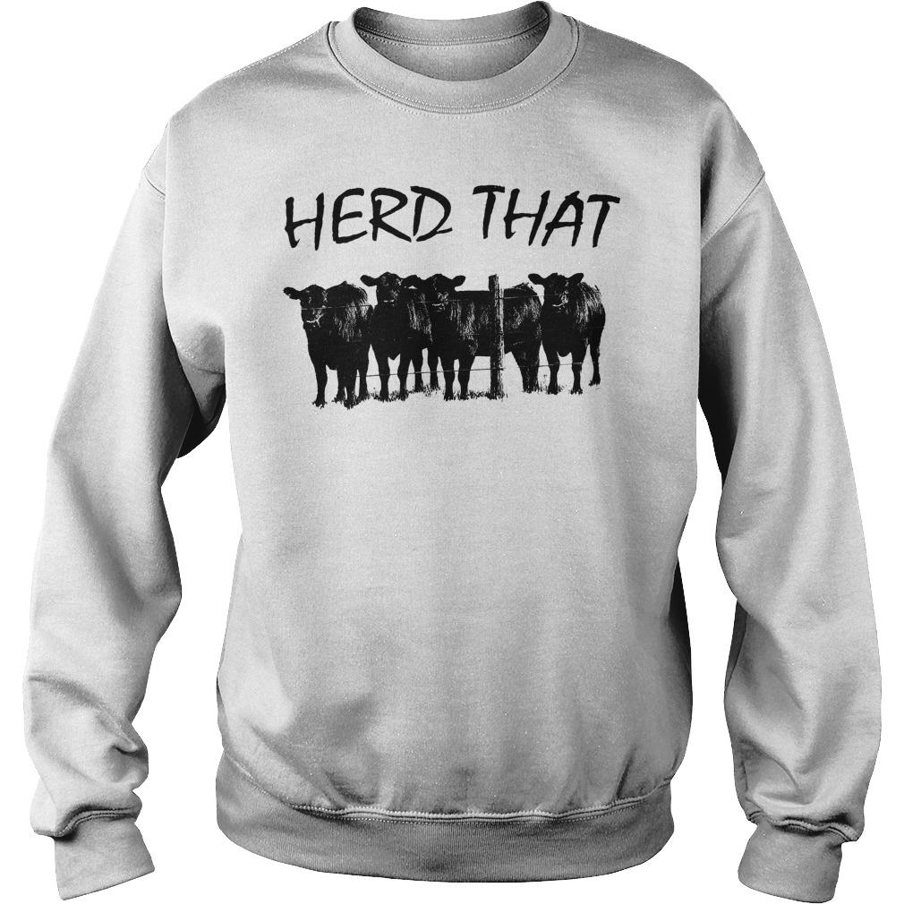 Farmer Cow Herd That Sweater