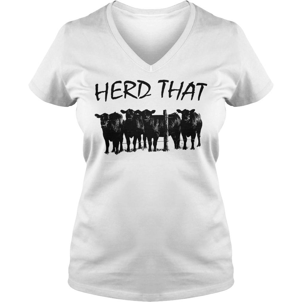 Farmer Cow Herd That V Neck
