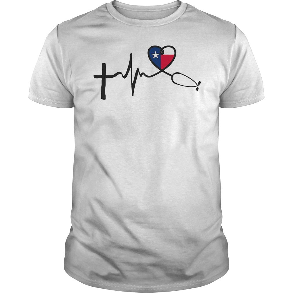 Heartbeat Faith Hope Love Texas Shirt
