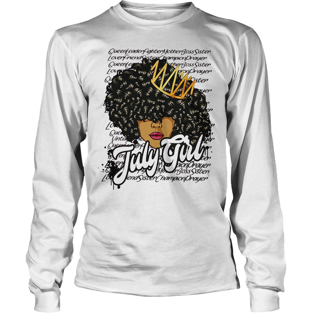 July Girl With Curly Hair Longsleeve