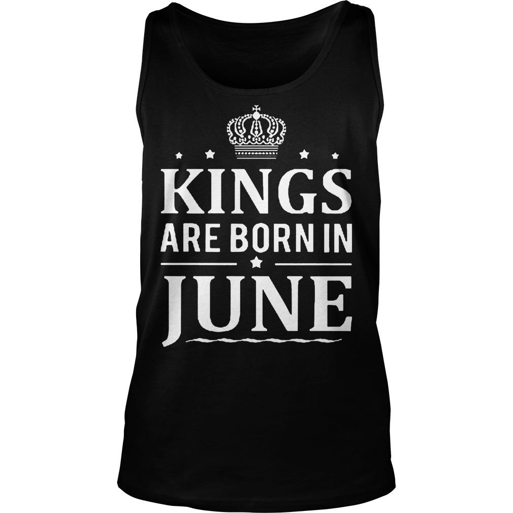 Kings Are Born In June Tanktop