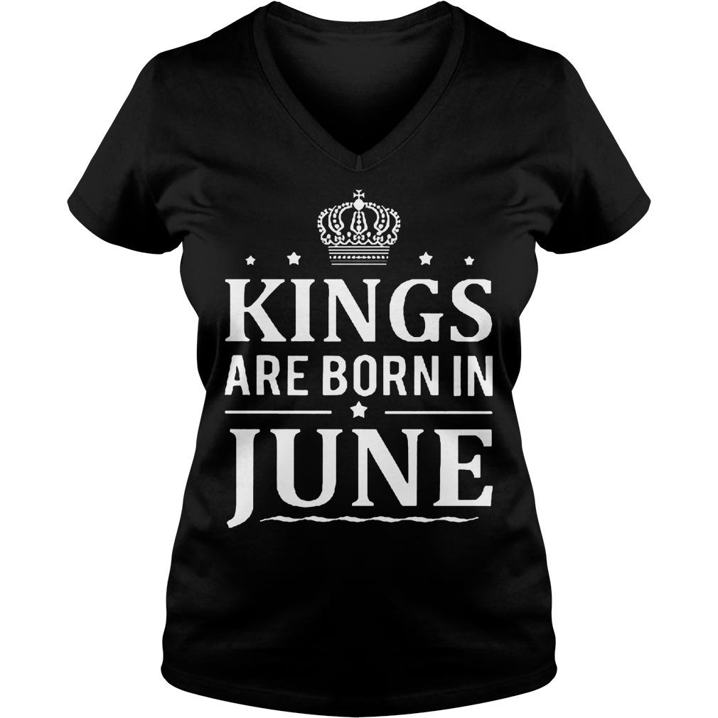 Kings Are Born In June V Neck