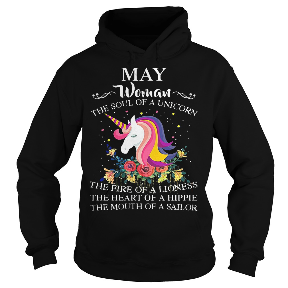 May Woman The Soul Of A Unicorn Hoodie