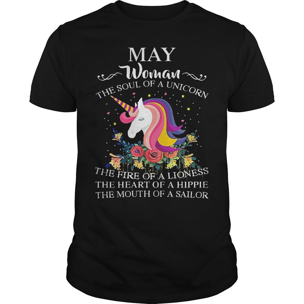 May Woman The Soul Of A Unicorn Shirt