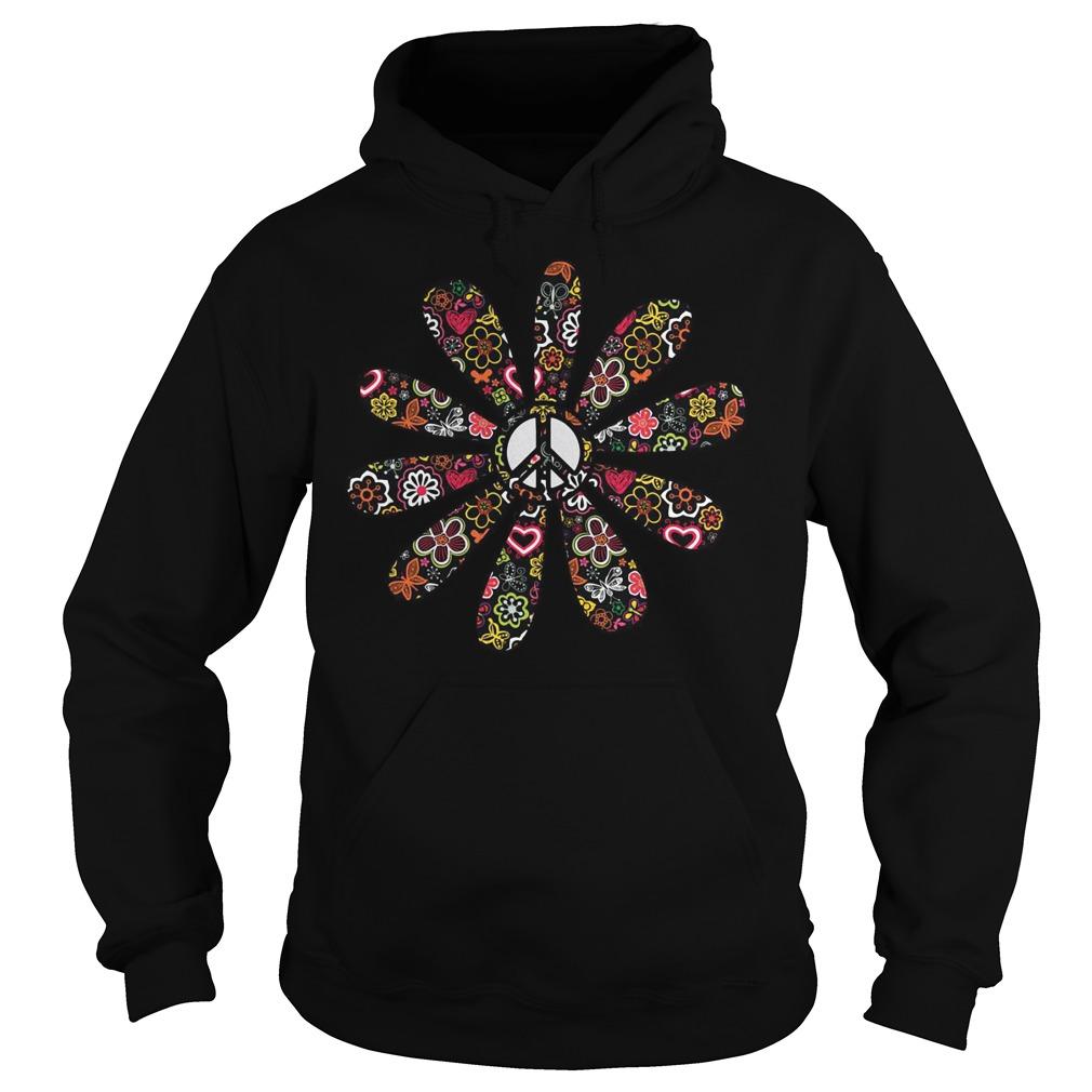 Peace Hippie Flower Hoodie