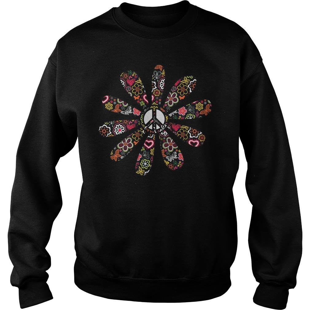 Peace Hippie Flower Sweater