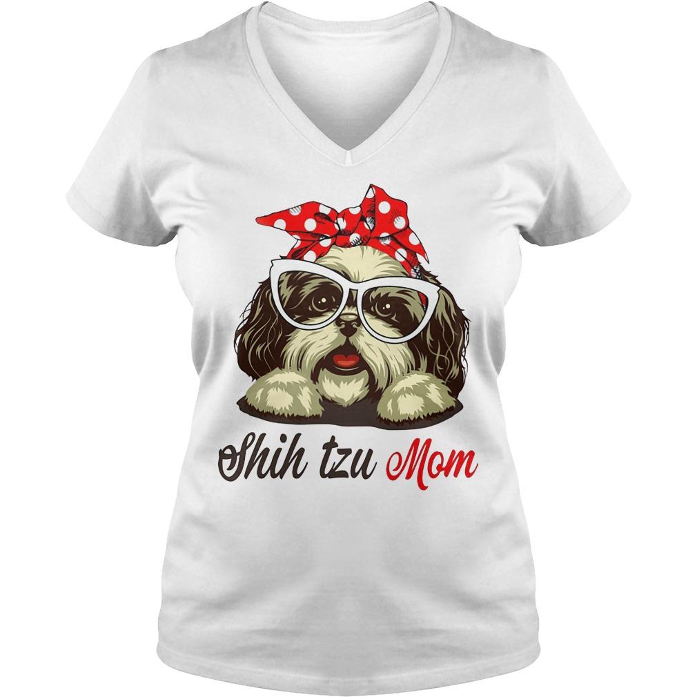 Shih Tzu Mom V Neck