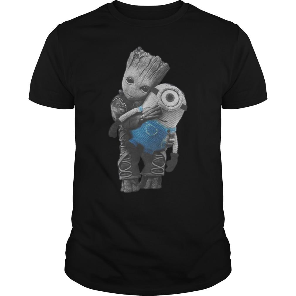 Baby Groot Hugs Minion T Shirt