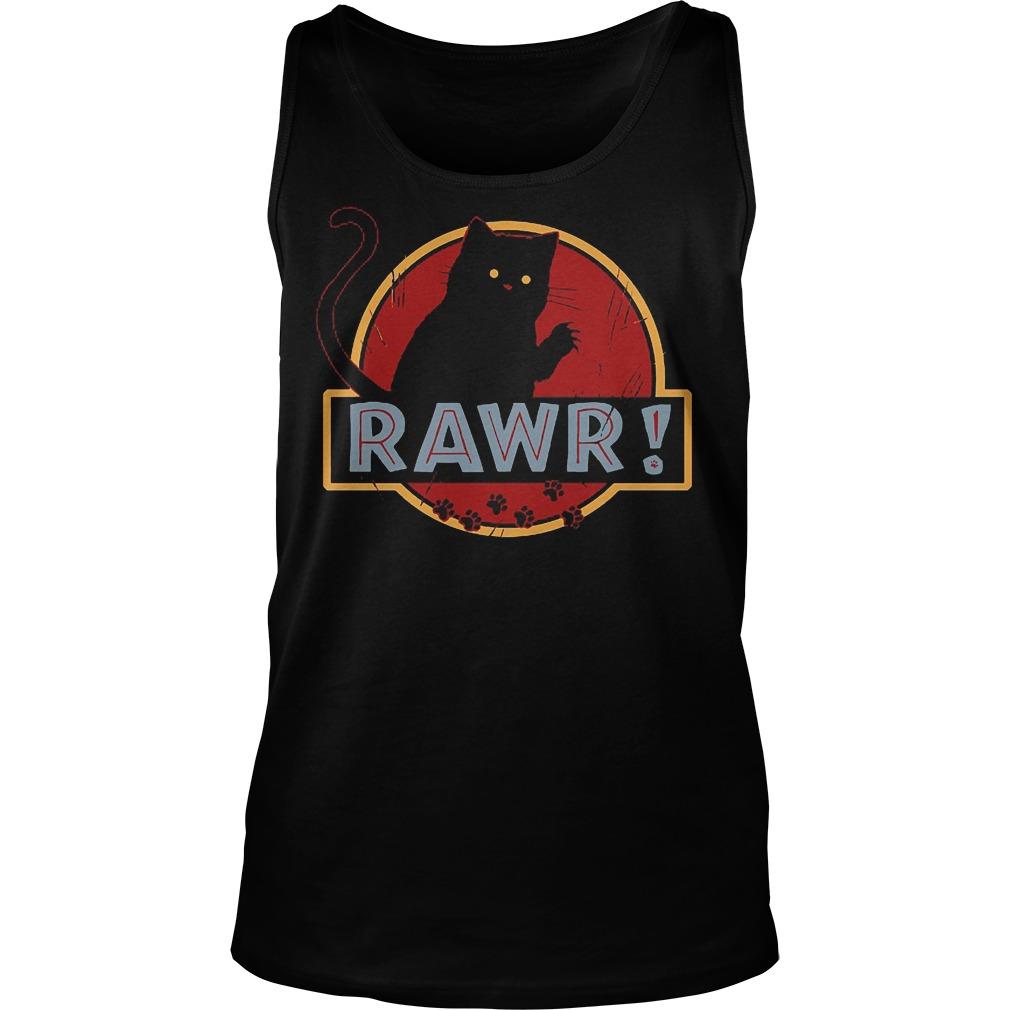 Black Cat Rawr Tanktop