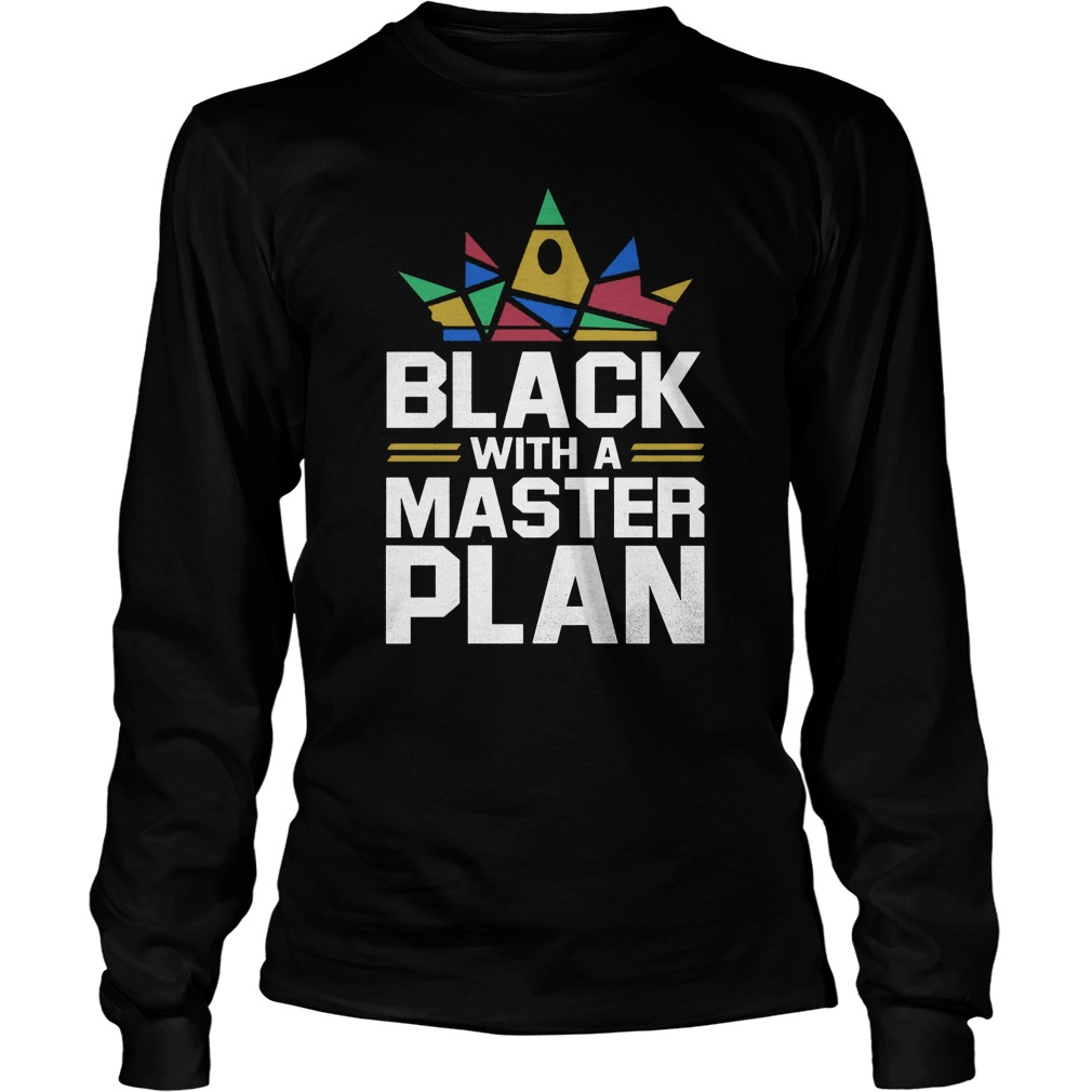Black With A Master Plan Longsleeve