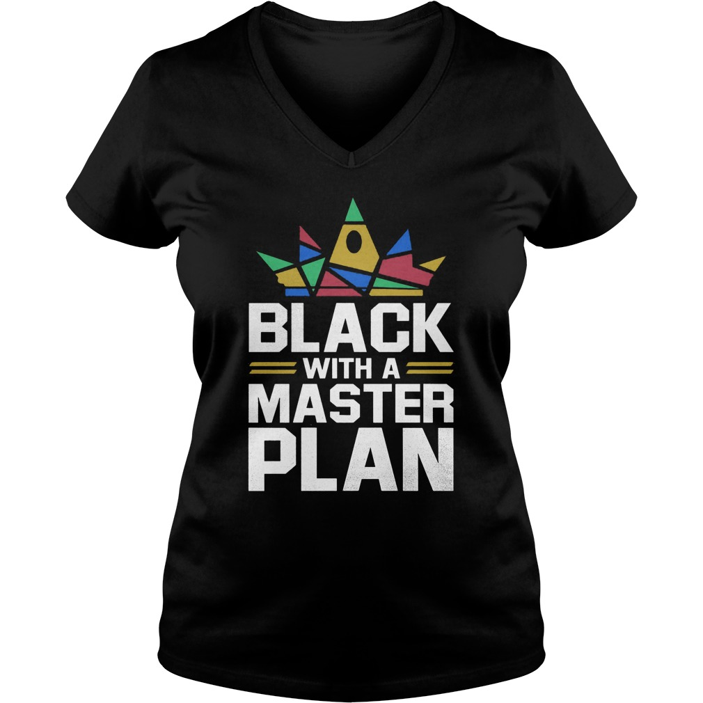 Black With A Master Plan V Neck