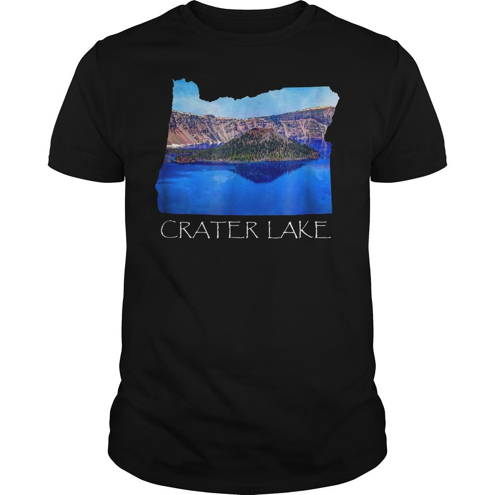 Crater Lake National Park Photo in Oregon State Souvenir T-Shirt Guys Tee