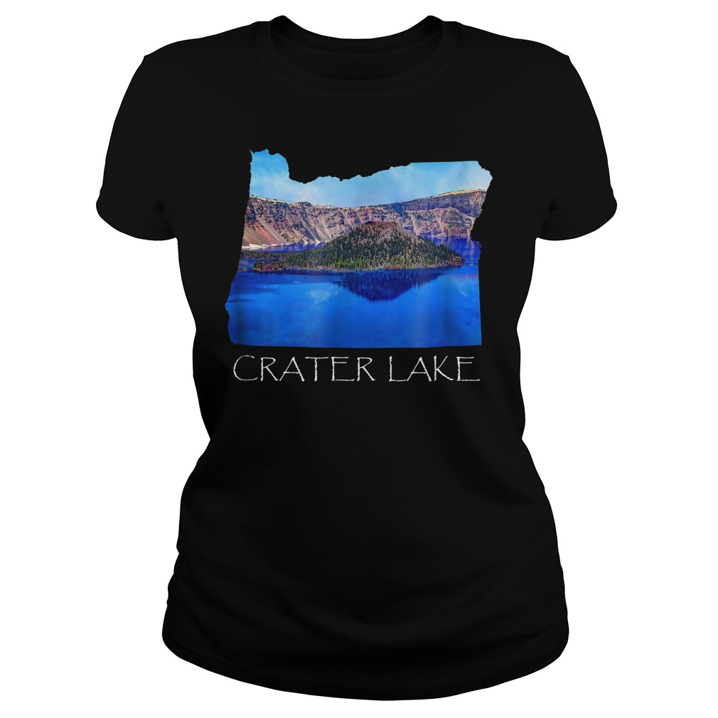 Crater Lake National Park Photo in Oregon State Souvenir T-Shirt Ladies Tee