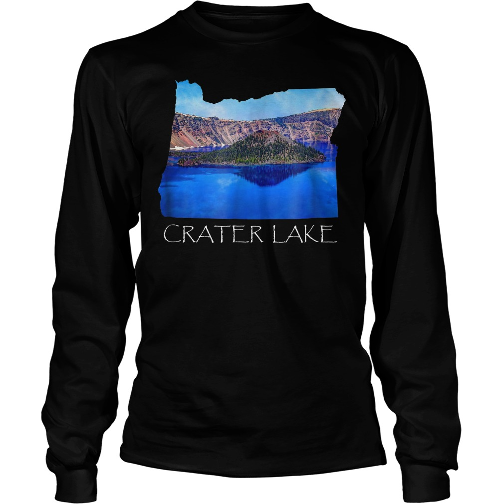 Crater Lake National Park Photo in Oregon State Souvenir T-Shirt Unisex Longsleeve Tee