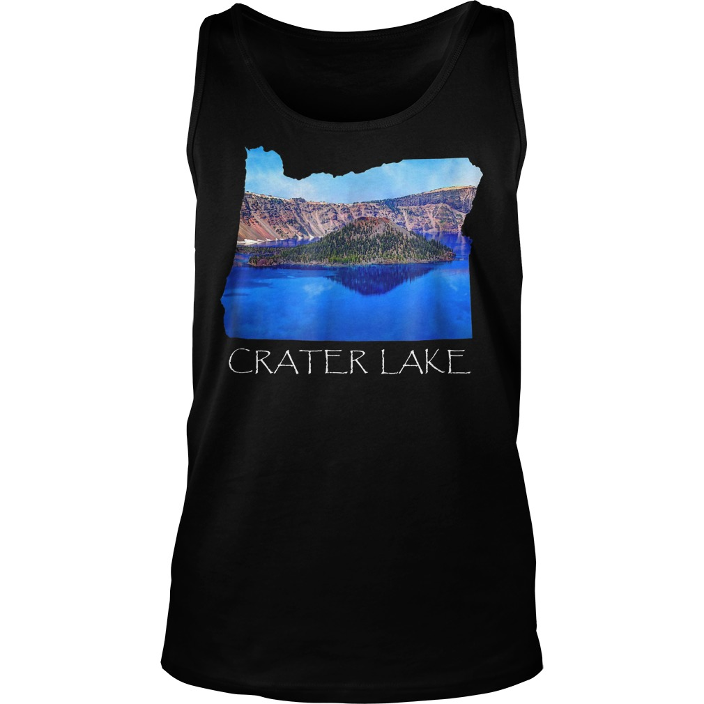 Crater Lake National Park Photo in Oregon State Souvenir T-Shirt Unisex Tank Top