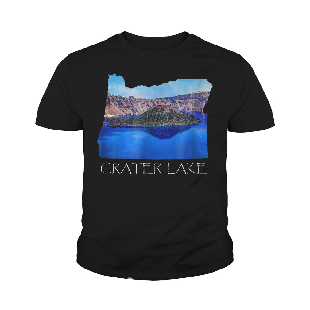 Crater Lake National Park Photo in Oregon State Souvenir T-Shirt Youth Tee