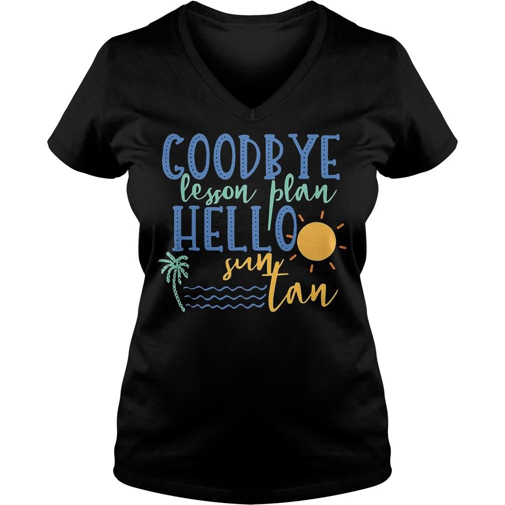 Goodbye Lesson Plan Hello Sun Tan V Neck