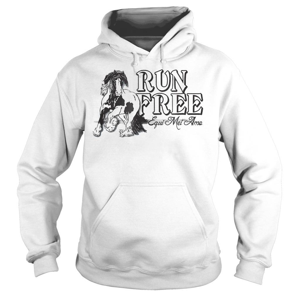 Horse Run Free Equi Mei Amo Hoodie