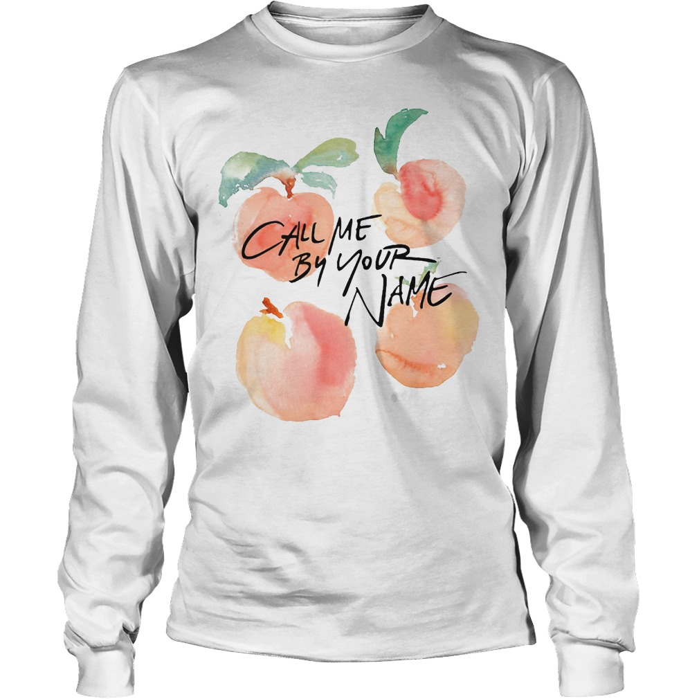 Lgbt Call Me By Your Name Peaches Longsleeve