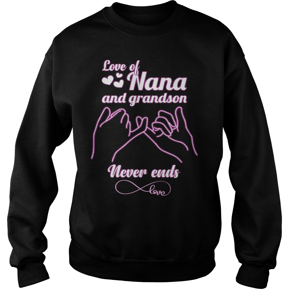 Love Of Nana And Grandson Never Ends Sweater