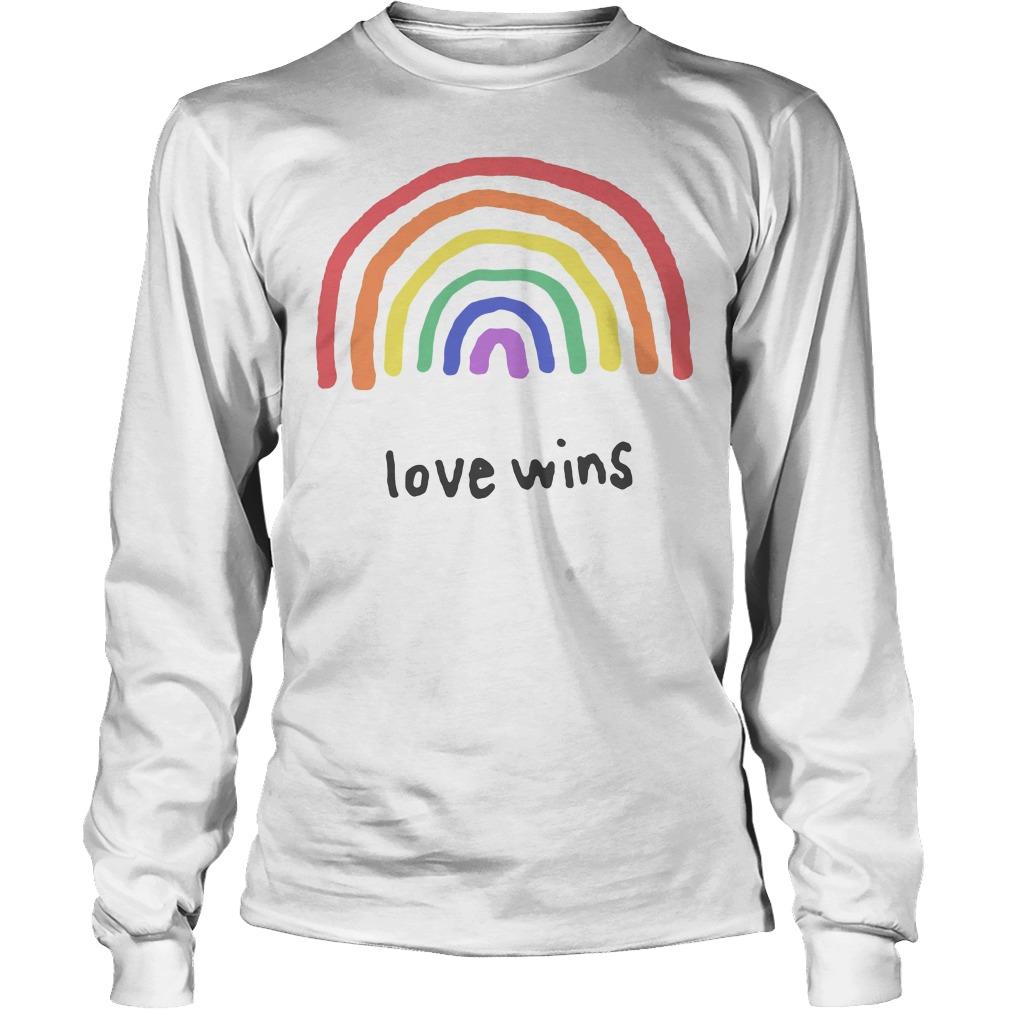 Love Wins Rainbows Lgbt Longsleeve