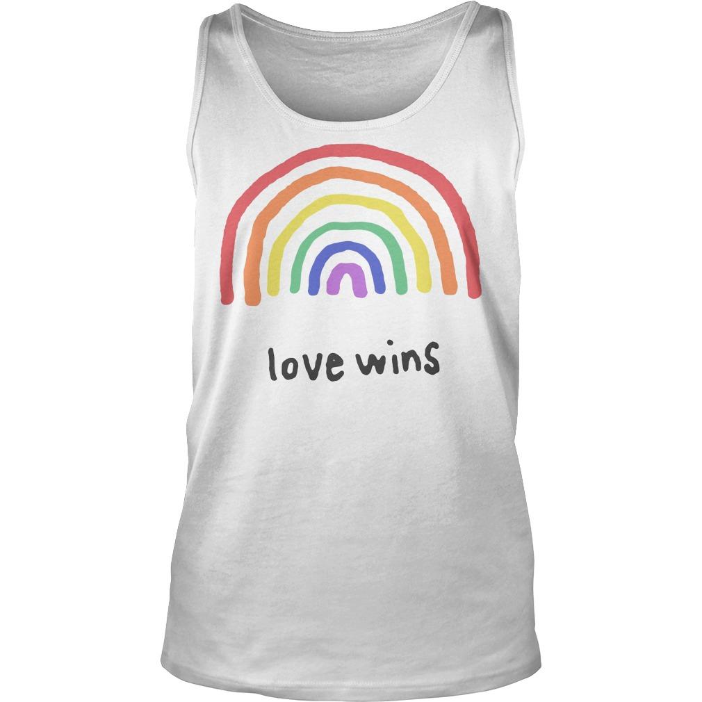 Love Wins Rainbows Lgbt Tanktop