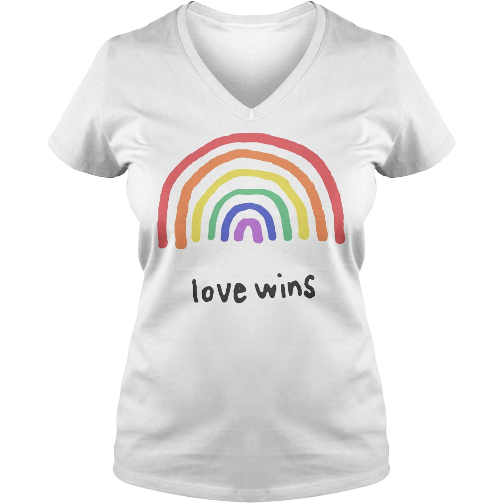 Love Wins Rainbows Lgbt V Neck