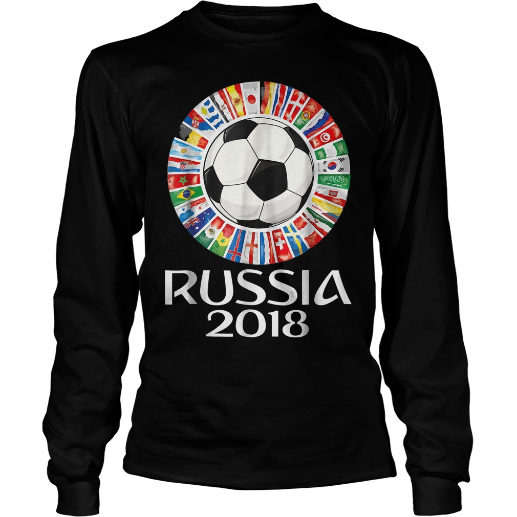Russia Soccer World Cup 2018 All Teams Longsleeve