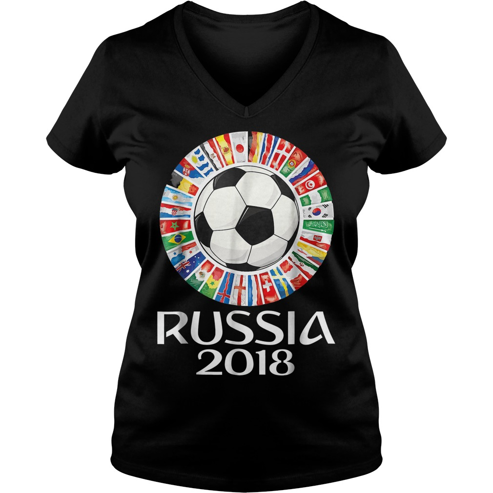 Russia Soccer World Cup 2018 All Teams V Neck
