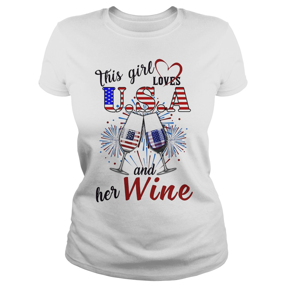 This Girl Loves U.s.a And Her Wine Ladies