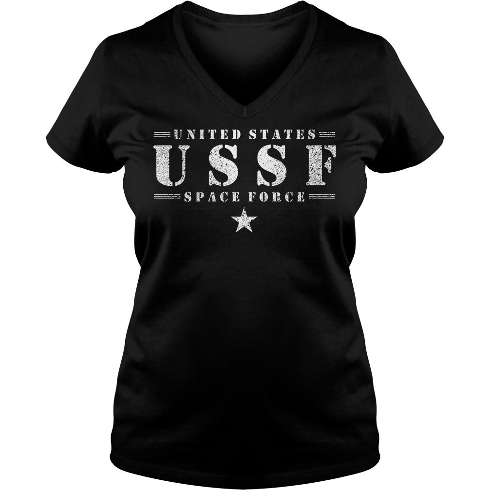United States Ussf Space Force V Neck