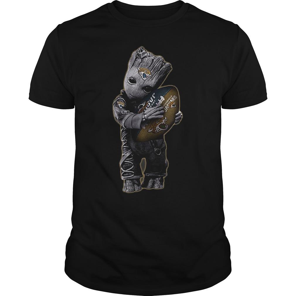 Baby Groot Hug Jacksonville Jaguars Football NFL T-Shirt Guys Tee