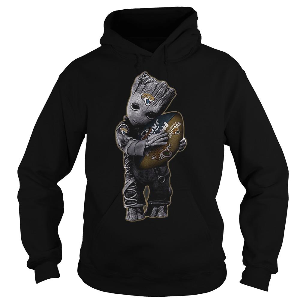 Baby Groot Hug Jacksonville Jaguars Football NFL T-Shirt Hoodie