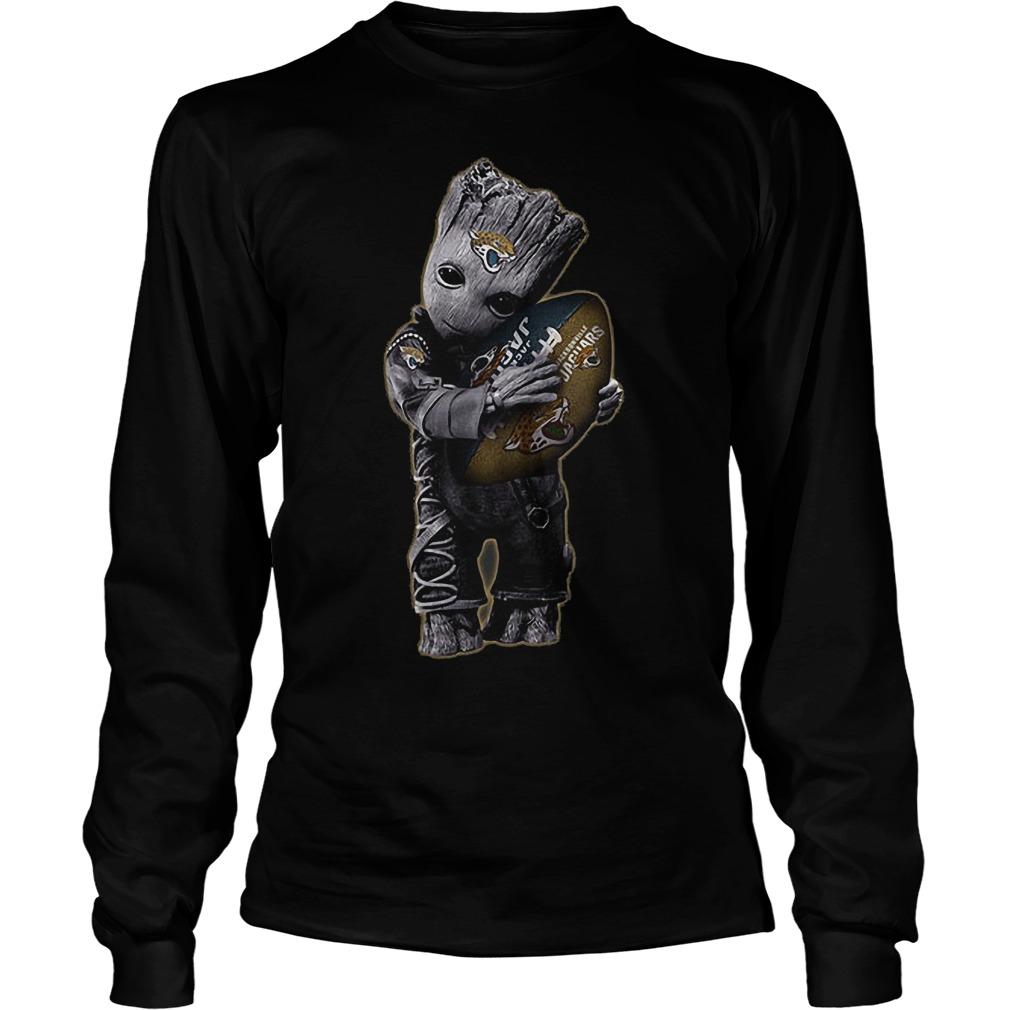 Baby Groot Hug Jacksonville Jaguars Football NFL T-Shirt Unisex Longsleeve Tee