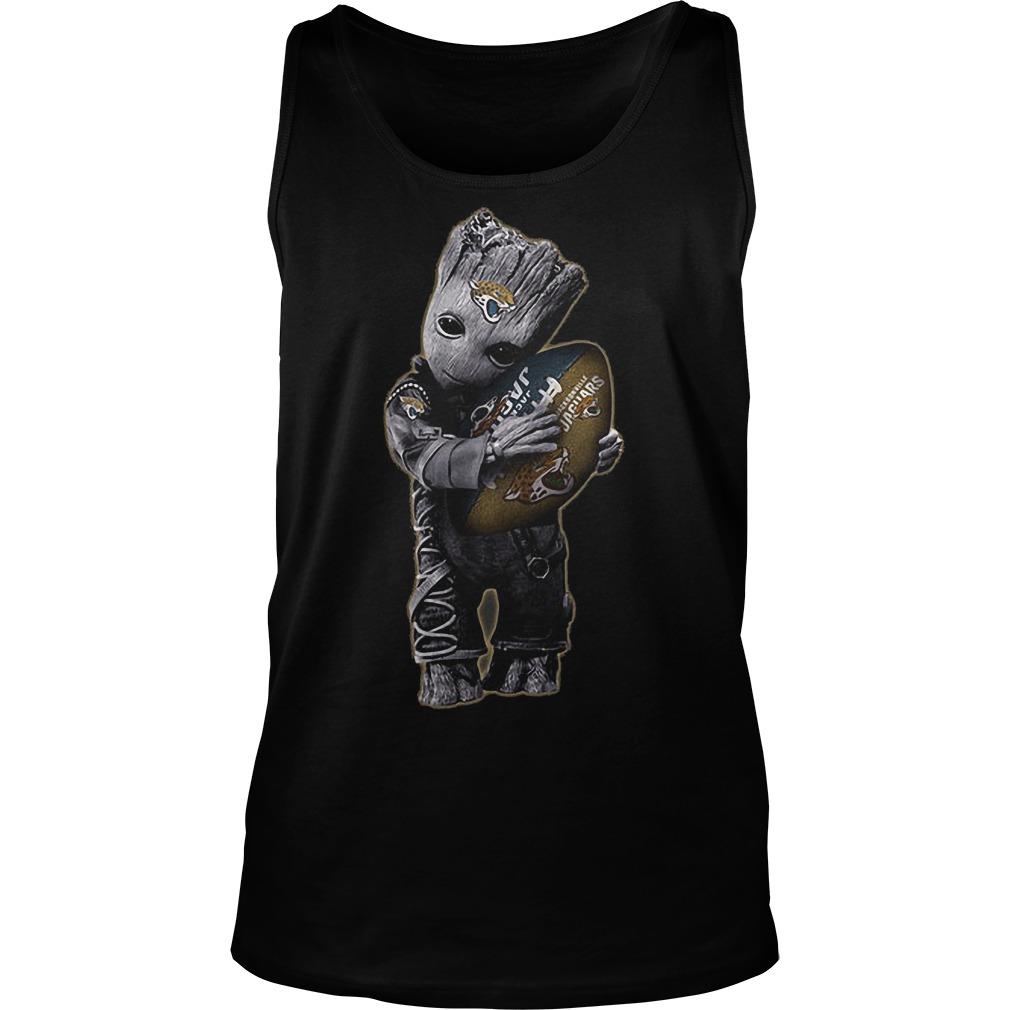 Baby Groot Hug Jacksonville Jaguars Football NFL T-Shirt Unisex Tank Top