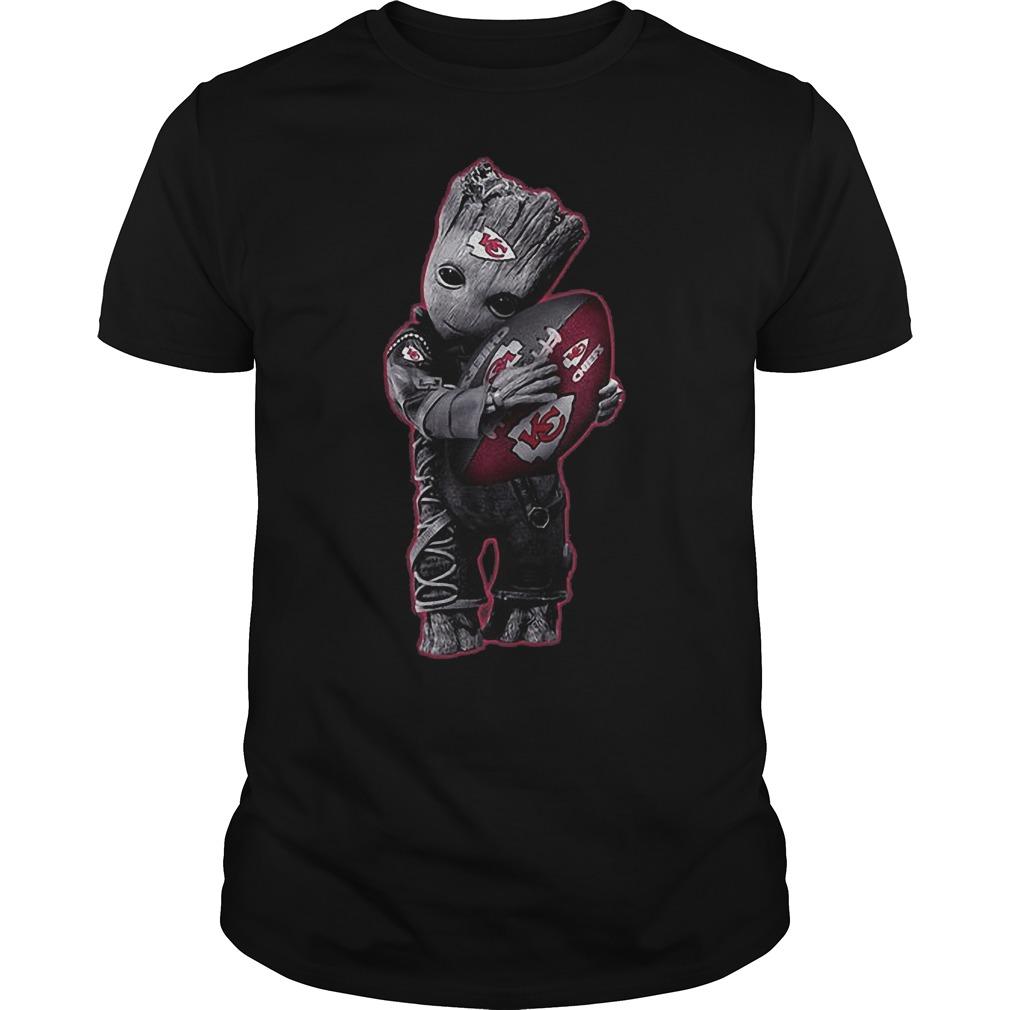 Baby Groot Hug Kansas City Chiefs Football Nfl T Shirt Guys Tee.jpg