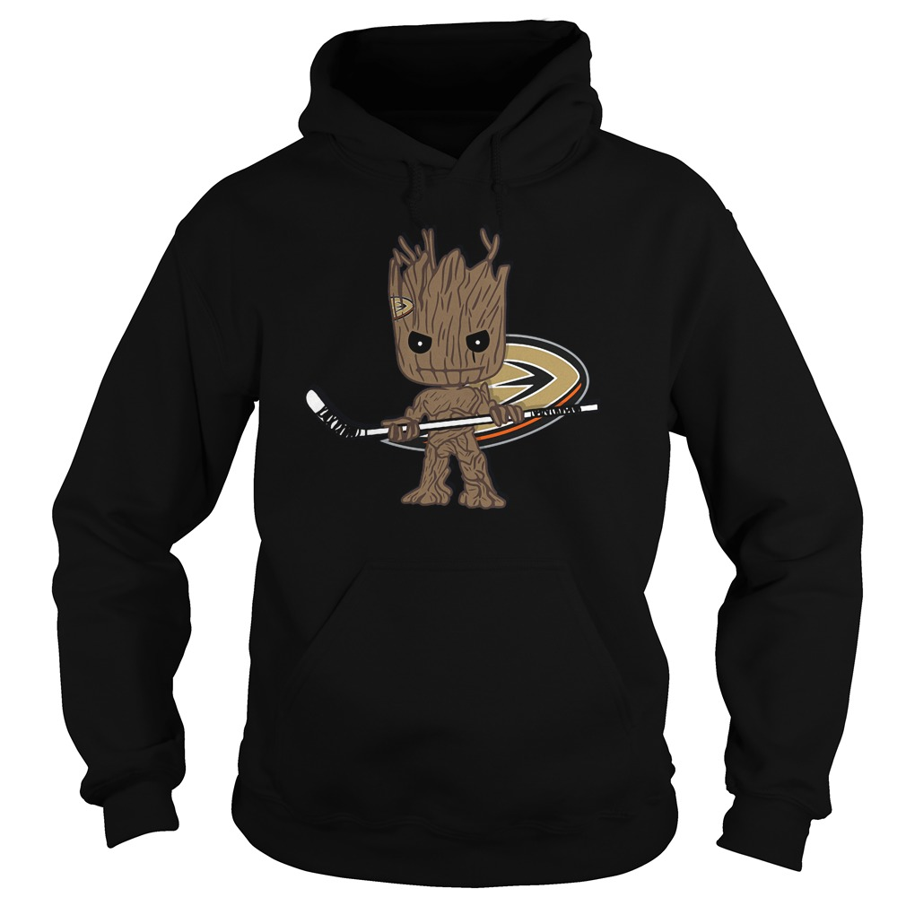 Baby Groot I Am Ice Hockey Player Team Anaheim Ducks T-Shirt Hoodie