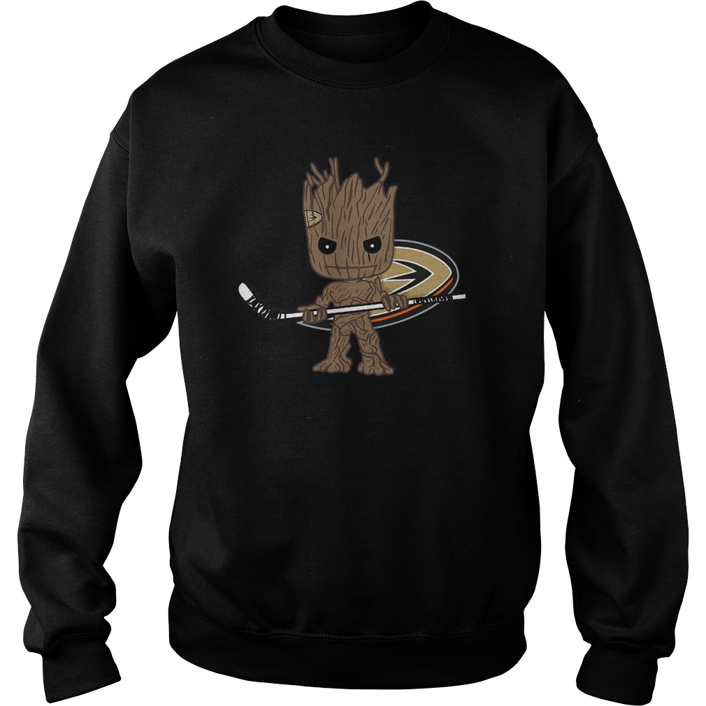 Baby Groot I Am Ice Hockey Player Team Anaheim Ducks T-Shirt Sweat Shirt