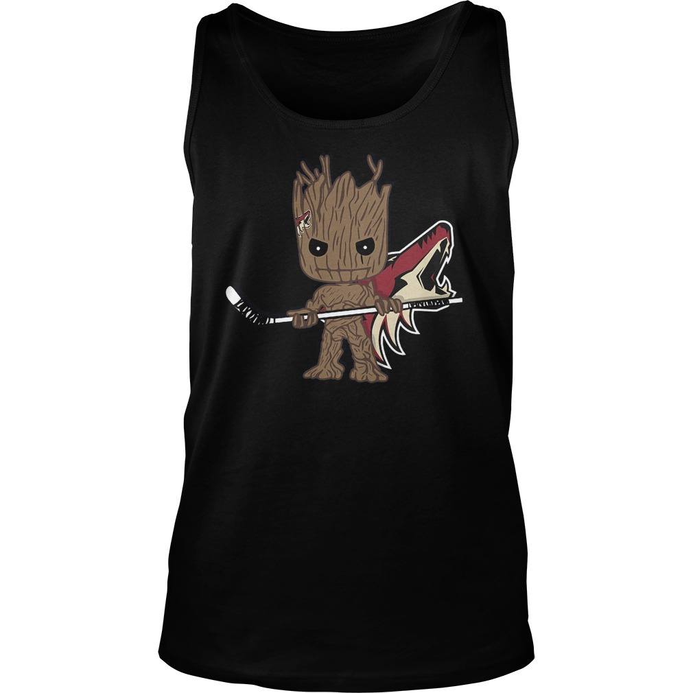Baby Groot I Am Ice Hockey Player Team Arizona Coyotes T-Shirt Unisex Tank Top