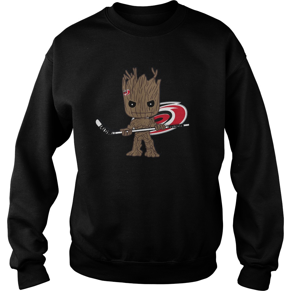 Baby Groot I Am Ice Hockey Player Team Carolina Hurricanes T-Shirt Sweat Shirt