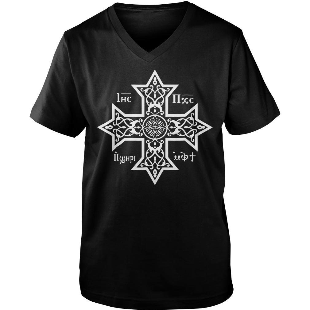 Copts Coptic Orthodox Church T-Shirt Guys V-Neck